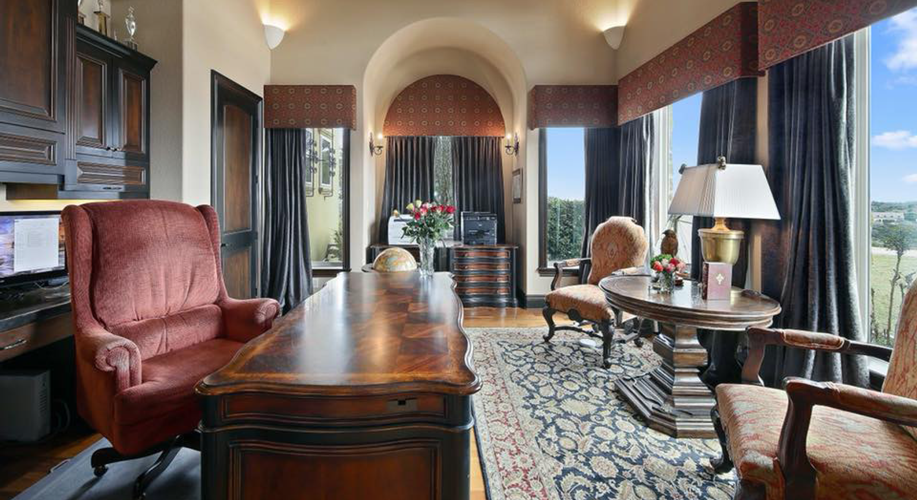 Its Grand Home Office Offers A Luxurious Private Space To Be Motivated And  Productive.