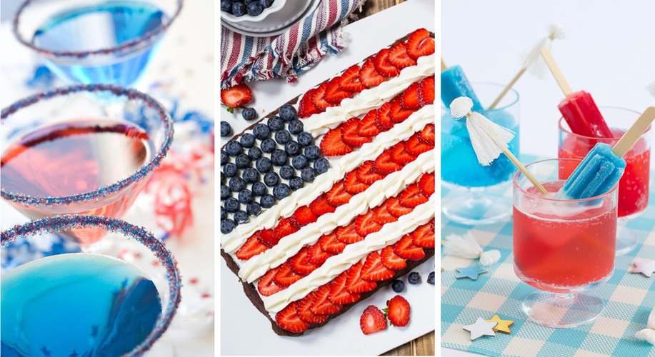 RED, WHITE and BLUE - HAPPY BIRTHDAY AMERICA