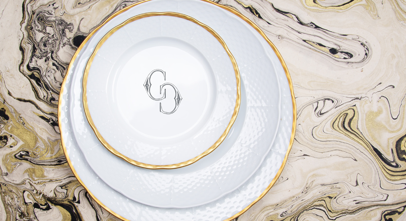 Her porcelain pieces are oven and dishwasher safe and are customizable allowing you to feature your family crest or monogram. You can also create your own ... & Custom Dinnerware u2013 A Uniquely Yours Trend | SA Portfolio